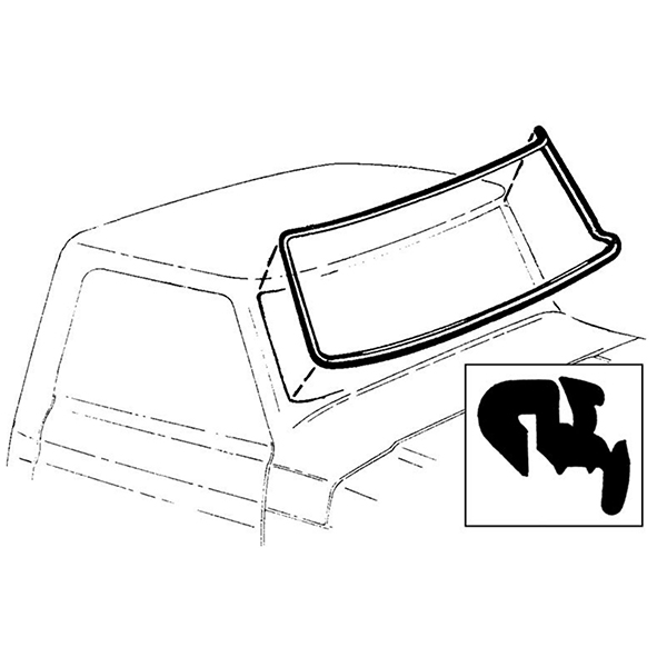 Windshield Seal Slotted For Chrome - OEM