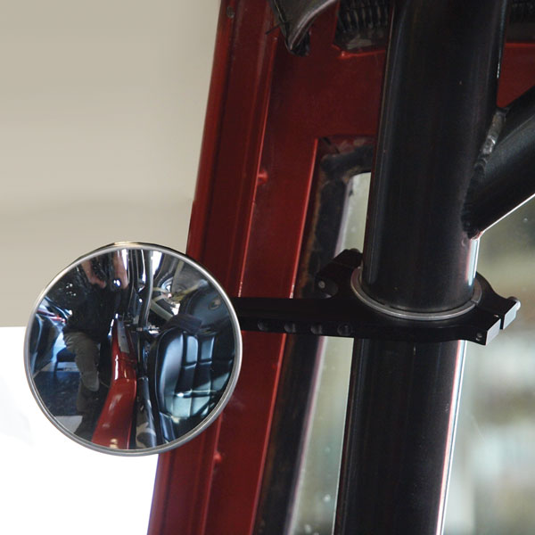 Mirror 3in Round Roll Bar Clamp Style LONG