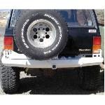 Jeep XJ Rock Solid Rear Bumper w/Tire Rack & Cam