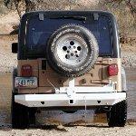 Jeep TJ Rock Solid Rear Bumper w/Tire Rack