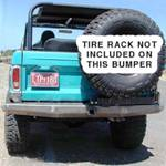 66-77 Rock Solid Rear Bumper w/ Body Lift - No Racks