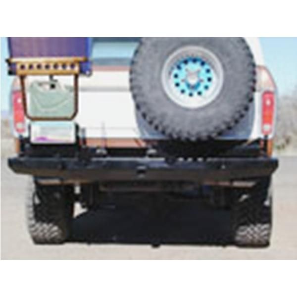 78-79 Rock Solid Rear Bumper w/ Tire, Gas Can, & Cooler Rack