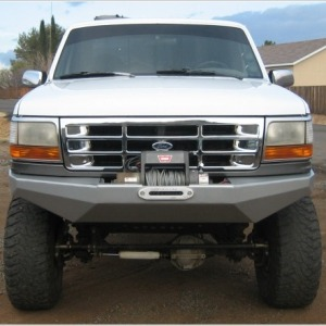 92 97 Rock Solid Front Bumper Wild Horses Ford Bronco