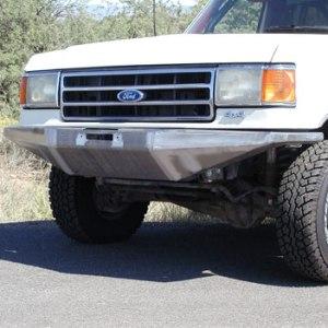 87 91 Rock Solid Front Bumper W Winch Mount Wild Horses