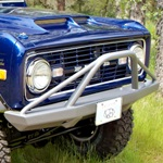 66-77 Bronco Rock Blocker Front Bumper Non-Winch w/ Pre-Runner Bar