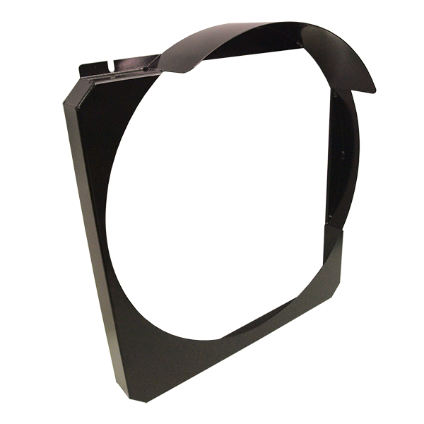 Steel Fan Shroud - V8 Only Powder Coated Black