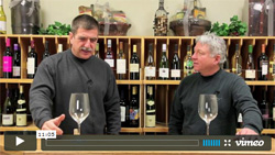 Tasting wines from Adelaida Cellars with Paul Kalemkiarian.