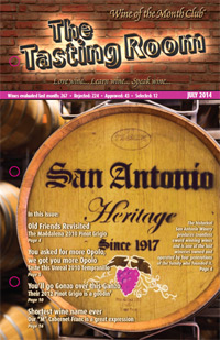 Wine of the Month Club July 2014 Newsletter