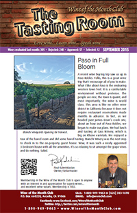 Wine of the Month Club September 2015 Newsletter
