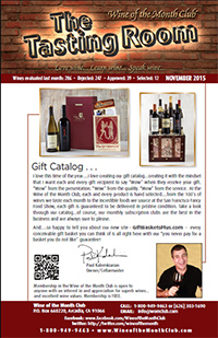 Wine of the Month Club November 2015 Newsletter