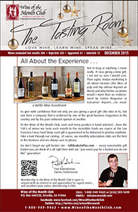 Wine of the Month Club December 2015 Newsletter