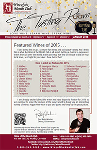 Wine of the Month Club January 2016 Newsletter