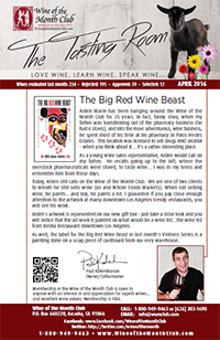 Wine of the Month Club April 2016 Newsletter