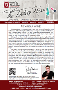 Wine of the Month Club June 2016 Newsletter