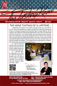 Wine of the Month Club July 2016 Newsletter