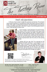 Wine of the Month Club September 2016 Newsletter