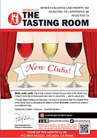 Wine of the Month Club September 2017 Newsletter