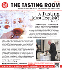 Wine of the Month Club April 2018 Newsletter