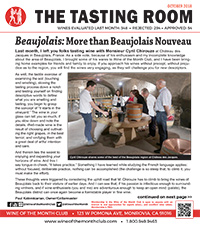 Wine of the Month Club October 2018 Newsletter
