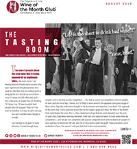 Wine of the Month Club August 2019 Newsletter