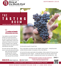 Wine of the Month Club September 2019 Newsletter