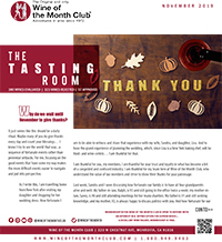 Wine of the Month Club November 2019 Newsletter
