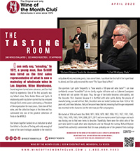 Wine of the Month Club April 2020 Newsletter