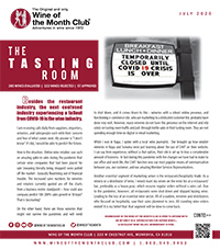 Wine of the Month Club July 2020 Newsletter