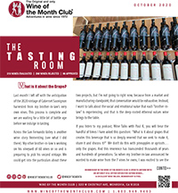 Wine of the Month Club October 2020 Newsletter