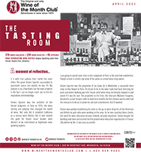 Wine of the Month Club April 2021 Newsletter