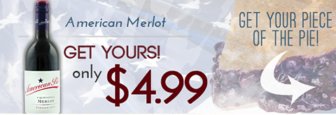 American Pie Merlot Just $4.99/bottle