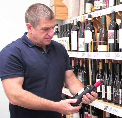 Paul in the Wine of the Month Club Fine Wine Cellar