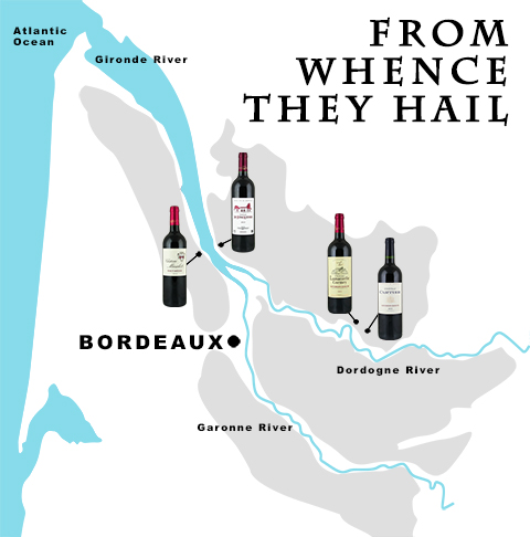 From Whence The Bordeaux Wines Hail