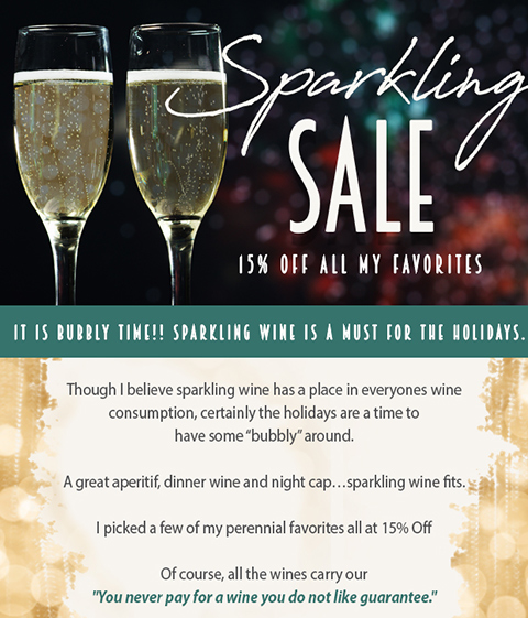 Sparkling Wine Sale - Now On!