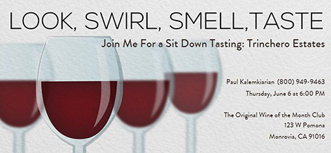 Join Me For This Wine Tasting Event
