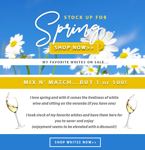 White Wine Sale Now On