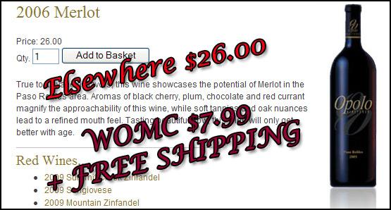 Opolo Merlot - Elesewhere $26.00 - WOMC $7.99 + FREE SHIPPING