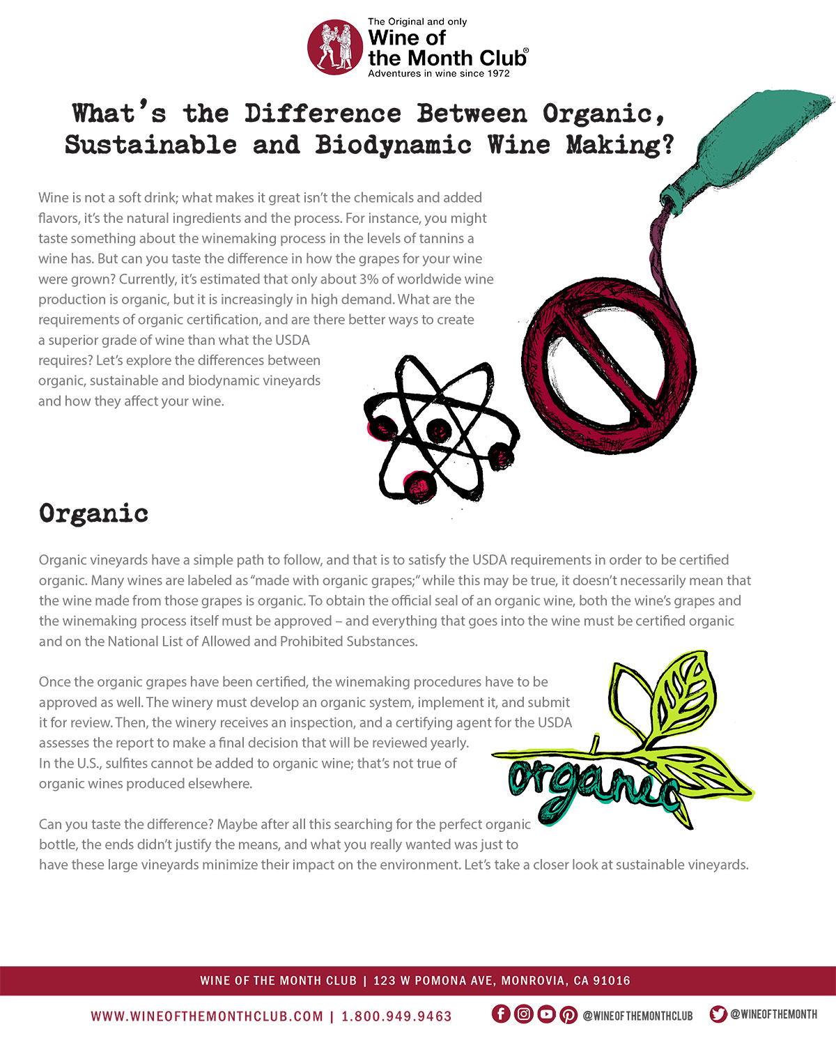 Organic, Sustainable, Biodynamic
