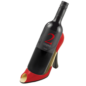Free Shipping on Red High Heel Bottle Holder Gift Basket! by Wine of the Month Club, Inc
