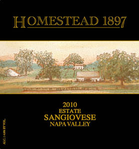 Sangiovese, 2010. Homestead