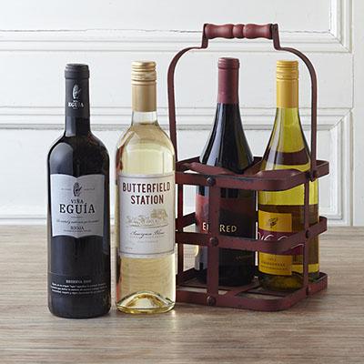 Quatro Vino (4 Bottle) Wine Gift Basket - Classic Series