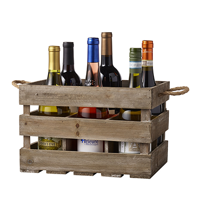 6 Bottle Rustic Crate
