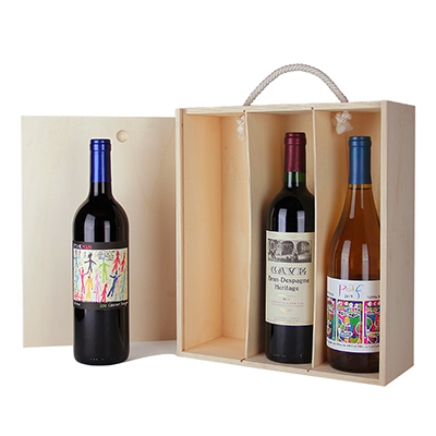 3 Bottle Wine Gift - Red, White or Mixed