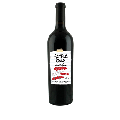 Red Blend, 2017. Sample Only