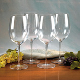 Luigi Bormioli Crystal Wine Glasses (Sonyx 4-Pack)