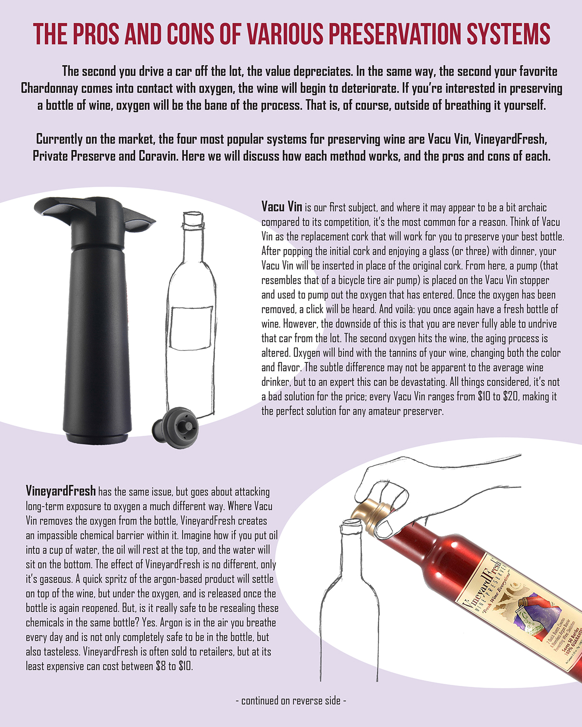 The Pros & Cons of Various Wine Preservation Systems