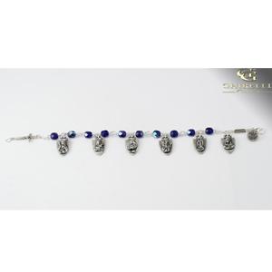 Blue Warrior Rosary Bracelets for Women