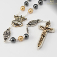 Fatima Commemorative Warrior's Rosary8mm Genuine Hematite