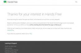 Google termina prueba de pagos manos libres