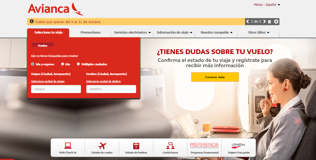 Avianca: opiniones, comentarios y sugerencia - Marketing 4Ecommerce